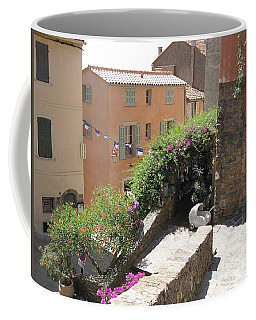 Rue De La Rose Coffee Mug by HEVi FineArt