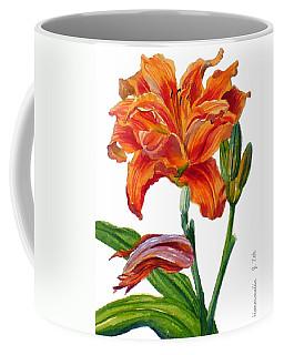Ruffled Orange Daylily - Hemerocallis Coffee Mug