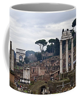 Ruins Of A Building, Roman Forum, Rome Coffee Mug