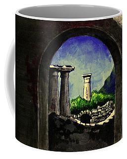 Coffee Mug featuring the painting Ruins by Salman Ravish