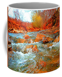 Running Creek 2 By Christopher Shellhammer Coffee Mug