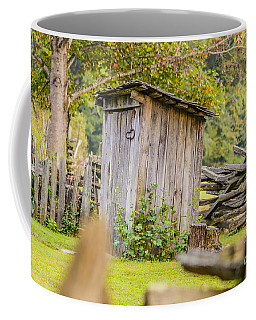 Rustic Fence And Outhouse Coffee Mug