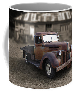 Coffee Mug featuring the photograph Rustic Ford Truck by Keith Hawley