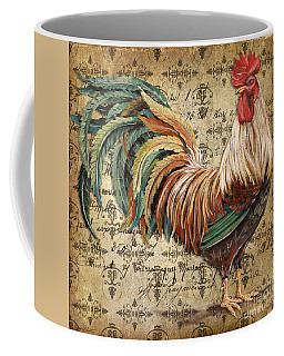 Rustic Rooster-jp2120 Coffee Mug by Jean Plout