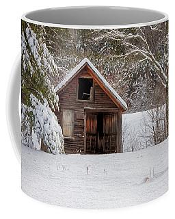 Rustic Shack In Snow Coffee Mug
