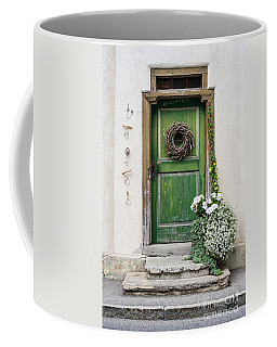 Rustic Wooden Village Door - Austria Coffee Mug