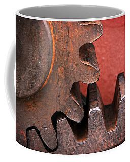 Rusty And Metallic Gear Wheel Coffee Mug
