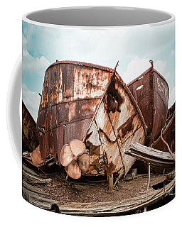 Rusty Boat Hulls - Nautical Vessels Coffee Mug