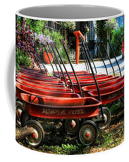 Coffee Mug featuring the photograph Rusty Old Wagons by Mel Steinhauer