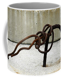 Coffee Mug featuring the photograph Rusty Twisted Metal I by Lilliana Mendez