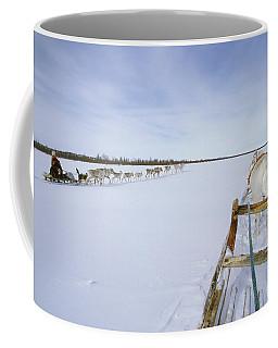 Saami Woman On Sleigh Drives Flock Coffee Mug