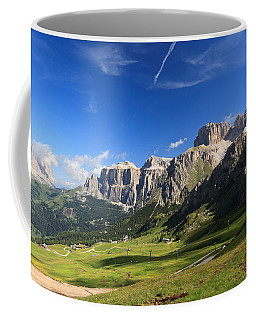 Saas Pordoi And Fassa Valley Coffee Mug by Antonio Scarpi
