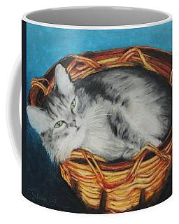 Sabrina In Her Basket Coffee Mug by Jeanne Fischer