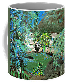 Coffee Mug featuring the painting Sacred Cenote At Chichen Itza by Alys Caviness-Gober