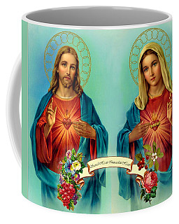 Sacred Heart Immaculate Heart  Coffee Mug