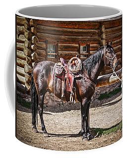 Saddled And Waiting Coffee Mug