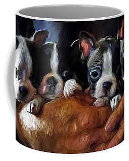 Safe In The Arms Of Love - Puppy Art Coffee Mug