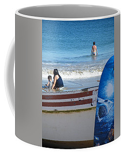 Coffee Mug featuring the photograph Safe To Go In The Water by Brian Boyle