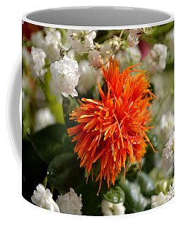 Safflower Amongst The Gypsophilia Coffee Mug