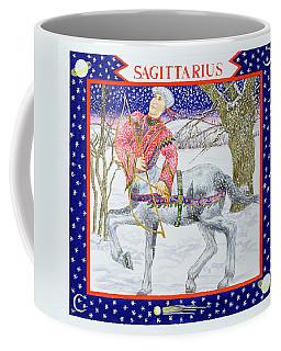 Sagittarius Wc On Paper Coffee Mug