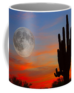 Saguaro Full Moon Sunset Coffee Mug
