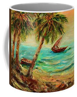 Sail Boats On Indian Ocean  Coffee Mug