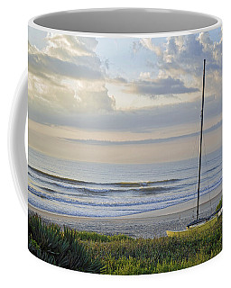 Sailboat At Dawn Coffee Mug