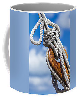 Coffee Mug featuring the photograph Sailboat Deadeye 3 by Leigh Anne Meeks