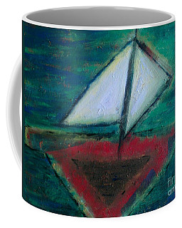 Coffee Mug featuring the painting Sailboat by Jacqueline McReynolds