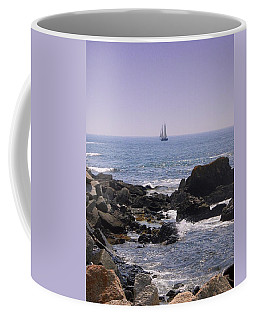 Sailboat - Maine Coffee Mug by Photographic Arts And Design Studio