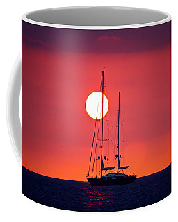 Sailboat Sunset Coffee Mug by Venetia Featherstone-Witty