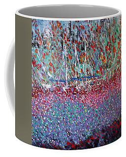Sailing Among The Flowers Coffee Mug