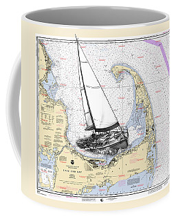 Sailing Cape Cod Bay Coffee Mug