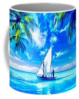 Coffee Mug featuring the painting Sailing by Catherine Lott