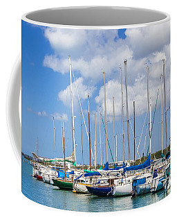 Coffee Mug featuring the photograph Sailing Club Marina 1 by Leigh Anne Meeks