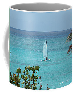 Coffee Mug featuring the photograph Sailing by David S Reynolds