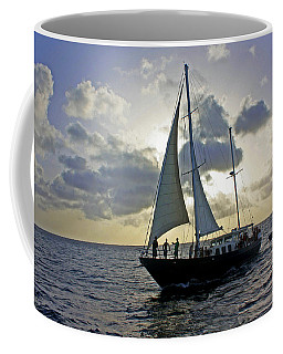 Coffee Mug featuring the photograph Sailing In Aruba by Suzanne Stout