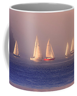 Sailing On A Misty Ocean Coffee Mug