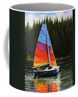 Sailing On Flathead Coffee Mug
