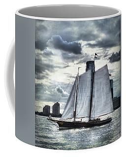 Sailing On The Hudson Coffee Mug