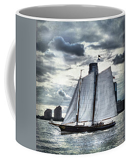 Sailing On The Hudson Coffee Mug