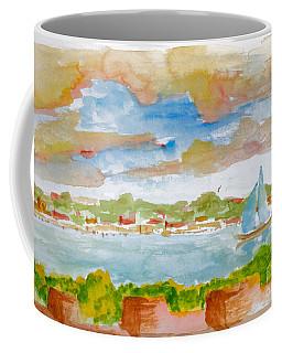 Sailing On The River Coffee Mug