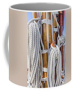 Coffee Mug featuring the photograph Sailing Rope 4 by Leigh Anne Meeks
