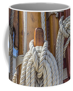 Coffee Mug featuring the photograph Sailing Rope 5 by Leigh Anne Meeks