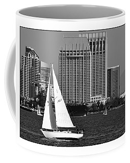 Coffee Mug featuring the digital art Sailing To Work by Kirt Tisdale