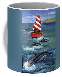 Sailing With Dolphins Coffee Mug