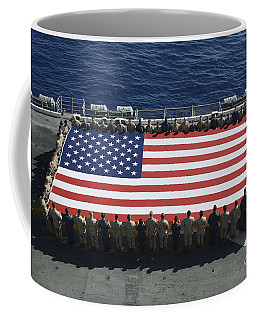 Coffee Mug featuring the photograph Sailors And Marines Display by Stocktrek Images