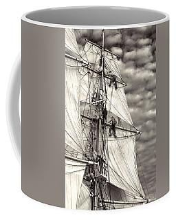 Sailors In Rigging Of Tall Ship Coffee Mug