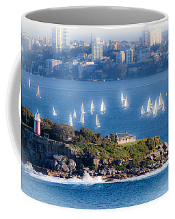Coffee Mug featuring the photograph Sails Out To Play by Miroslava Jurcik