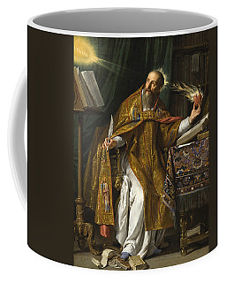 Coffee Mug featuring the painting Saint Augustine by Philippe de Champaigne